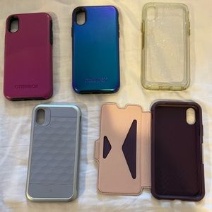 Bundle of gently used iPhone X cases